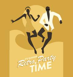 Summer retro party-03 vector