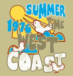 summer west coast vector image