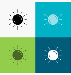 Sun space planet astronomy weather icon over vector