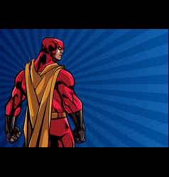 superhero back ray light background vector image