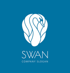 Swan logo sign emblem-17 vector