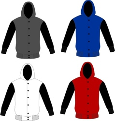Sweater hoodie template vector
