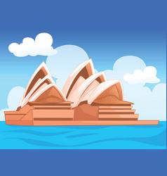 Sydney opera house australian vector