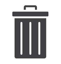 trash bin glyph icon web and mobile delete sign vector image