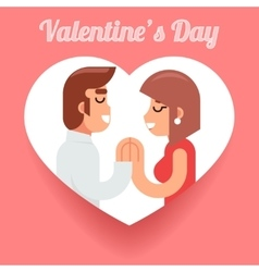 Valentines Day Romantic beloved dating man woman vector