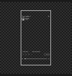 Video window in your device eps10 vector