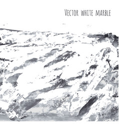 White gray black marble watercolor texture vector