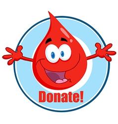 Blood donation cartoon vector image