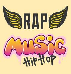 graffiti hip-hop music text art urban vector image