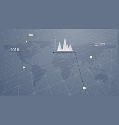 infographic world destination vector image