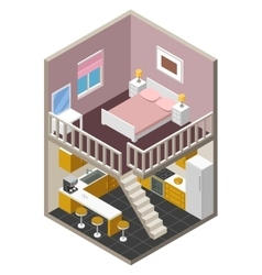isometric house vector image vector image