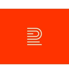 Line letter f logotype Abstract moving airy logo vector image vector image