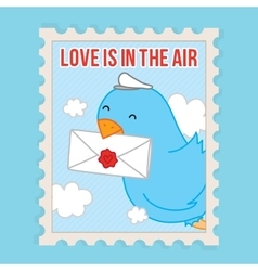 Love is in the air Valentines Day postcard vector image vector image
