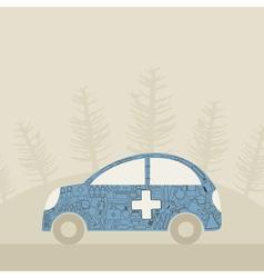Medical car vector image vector image
