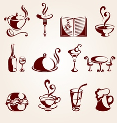 restaurant design elements vector image vector image