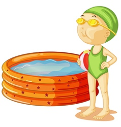 A young swimmer vector image