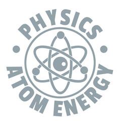 atom energy logo simple gray style vector image