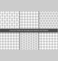 collection of seamless simple geometric patterns vector image vector image