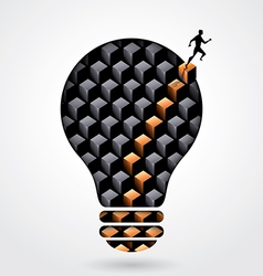 Creative thinking business concept light bulb vector image vector image