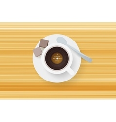 DJ cafe Abstract cup of coffee with vinyl record vector image