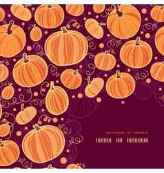 Thanksgiving pumpkins corner decor pattern vector image vector image