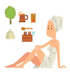 bath girl body washing face and bath taking shower vector image