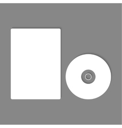 Blank CD DVD mock up vector image
