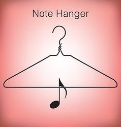 Coat Hanger Music vector image