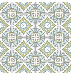 Cute abstract tile seamless pattern vector image