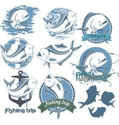 dorado fish vector image
