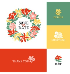 Floral wreath Flat colorful design vector image vector image