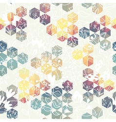 hexagon triangle flower vector image
