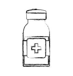Isolated medicine liquid bottle vector