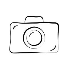 Photo camera doodle icon 1 vector image