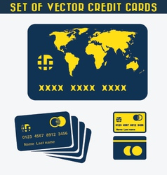Set of Credit cards vector image vector image