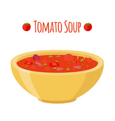 tomato soup with meat beet tomatoes vector image