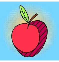 Apple Pop art vector image vector image