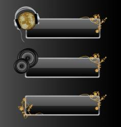 audio style banners vector image vector image