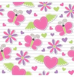 cute romantic seamless pattern vector image vector image