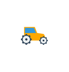 flat icon tractor element of vector image vector image