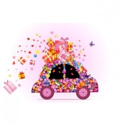 hippie car vector image vector image