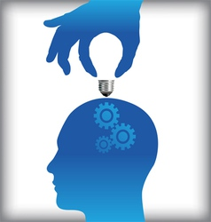 Idea from human thought process vector image vector image