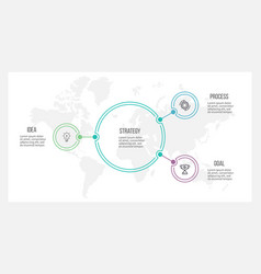outline infographic organization chart with 3 vector image vector image