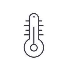 thermometer line icon sign vector image vector image