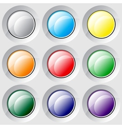 Varicolored buttons vector image vector image