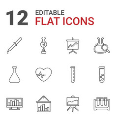 12 analysis icons vector