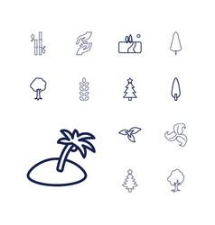 13 tree icons vector