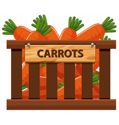 A crate of carrot vector