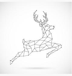 abstract polygonal deer design geometric reindeer vector image