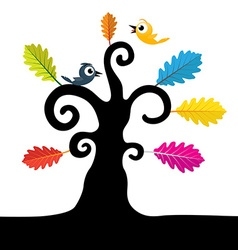 Abstract Tree Tree with Curled Branches and vector image